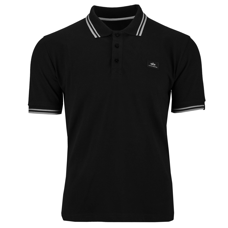 Alpha Industries Shirt Twin Stripe Polo II black/white