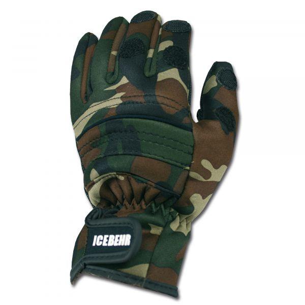 Neoprene Shooting Gloves Power Grip camo