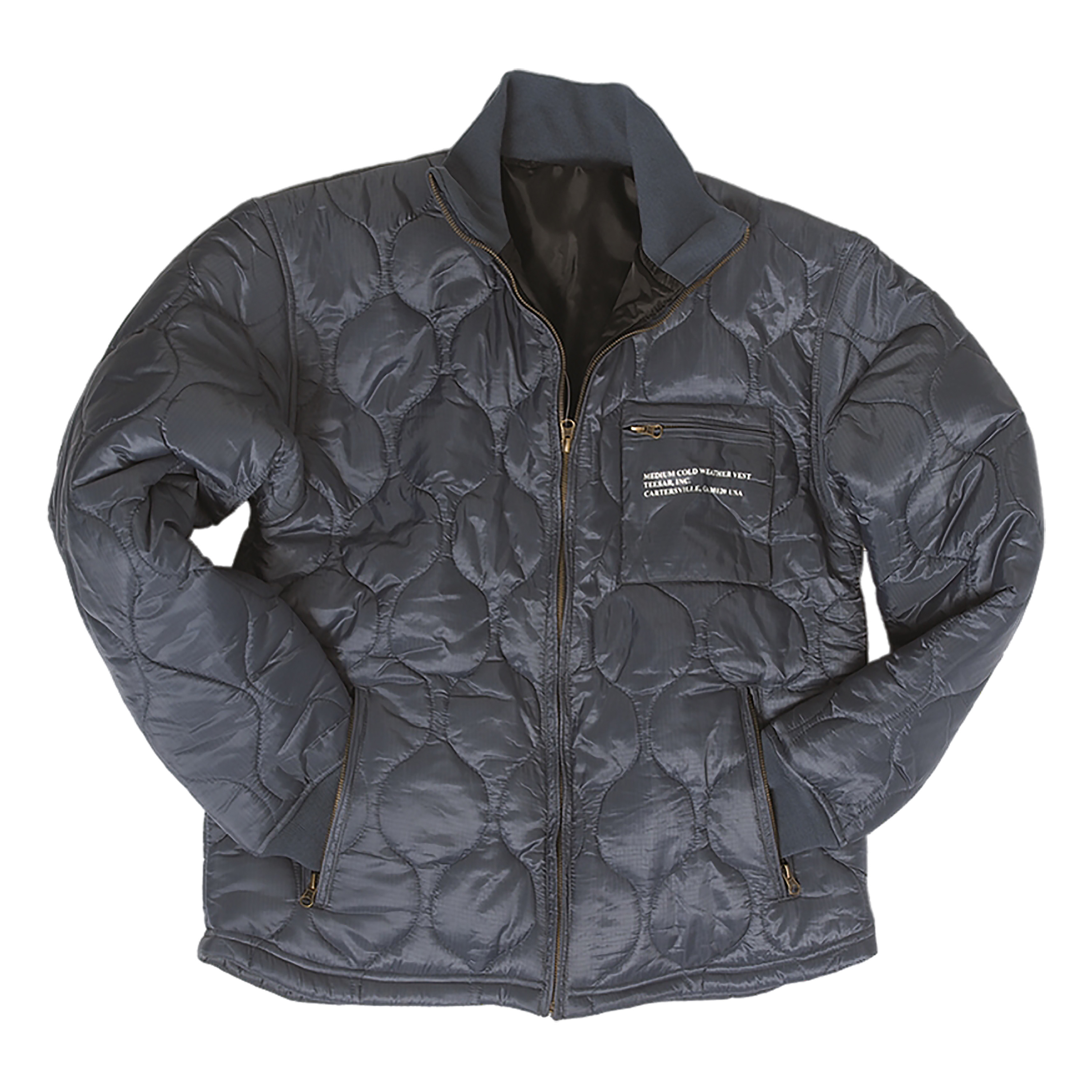 U.S. Cold Weather Quilted Jacket blue