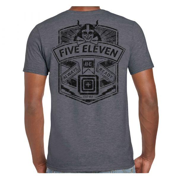 5.11 T-Shirt Viking Crest charcoal heather