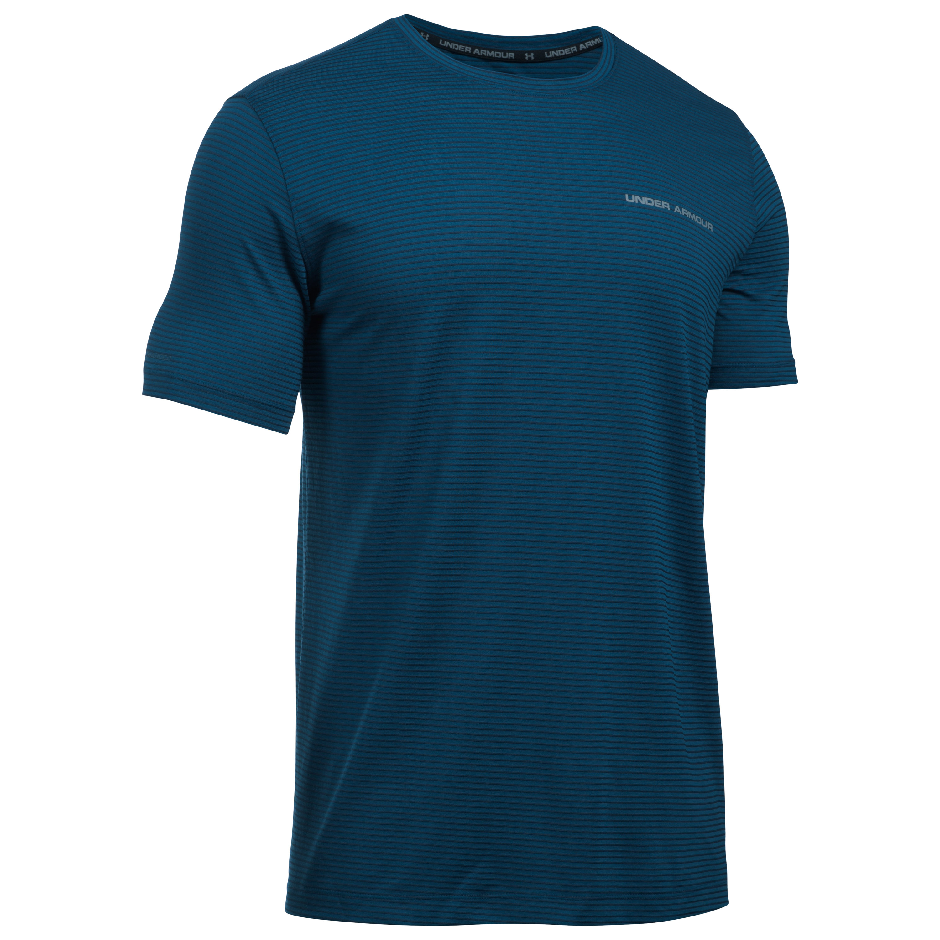 Under Armour Fitness T-Shirt Charged Cotton blue striped