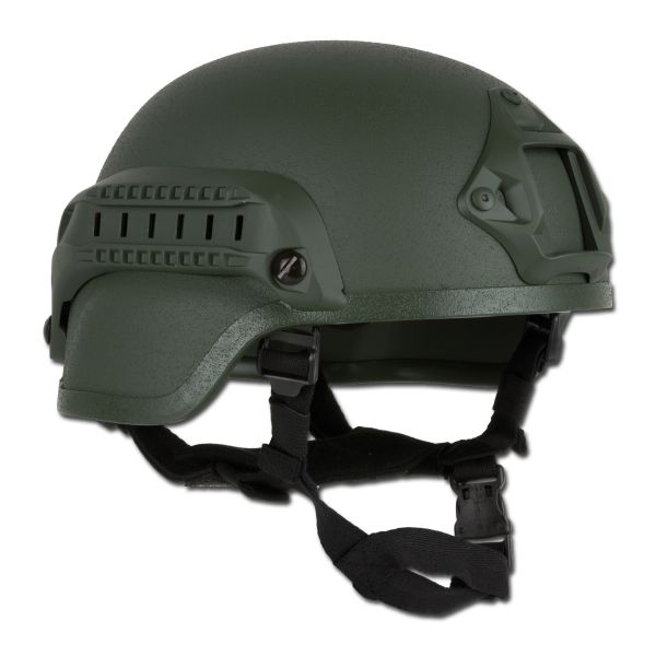 Combat Helmet MICH 2000 NVG Mount and Siderail olive