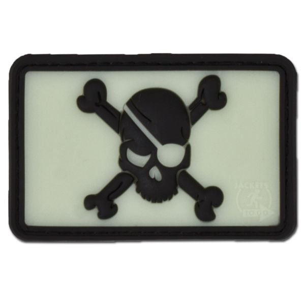 3D-Patch Pirate Skull GID Inverted