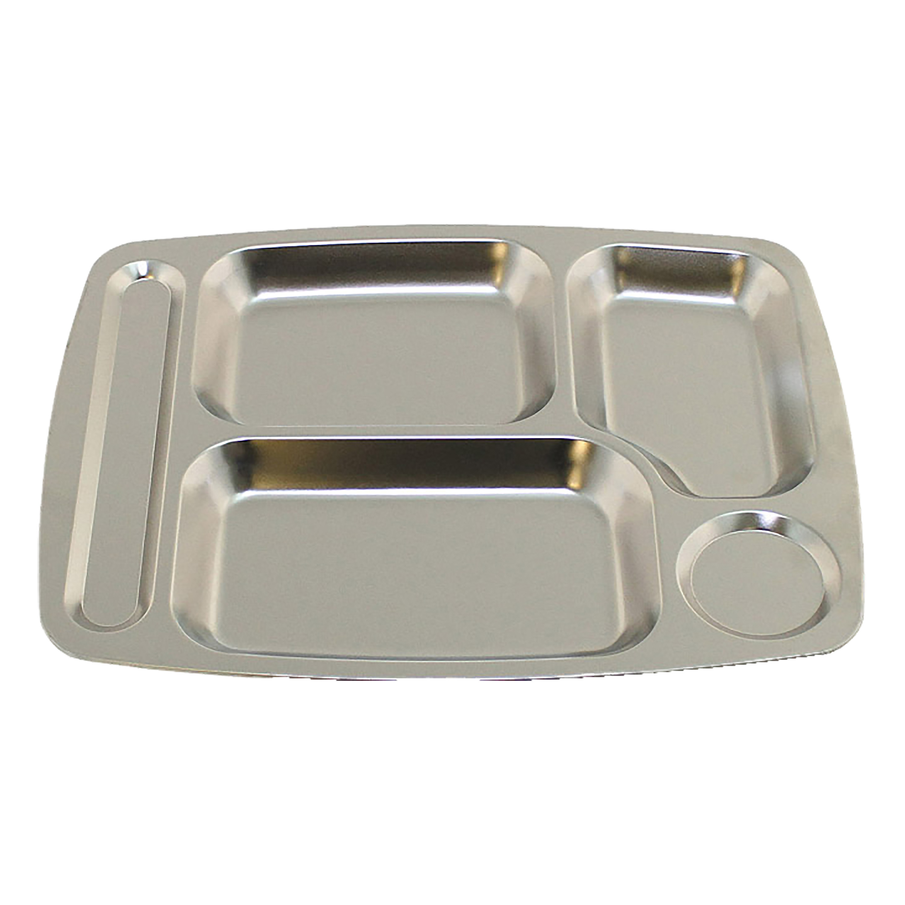 New Divided Plate 4//5 Compartments Food Tray Stainless Steel Dinner Food Serving