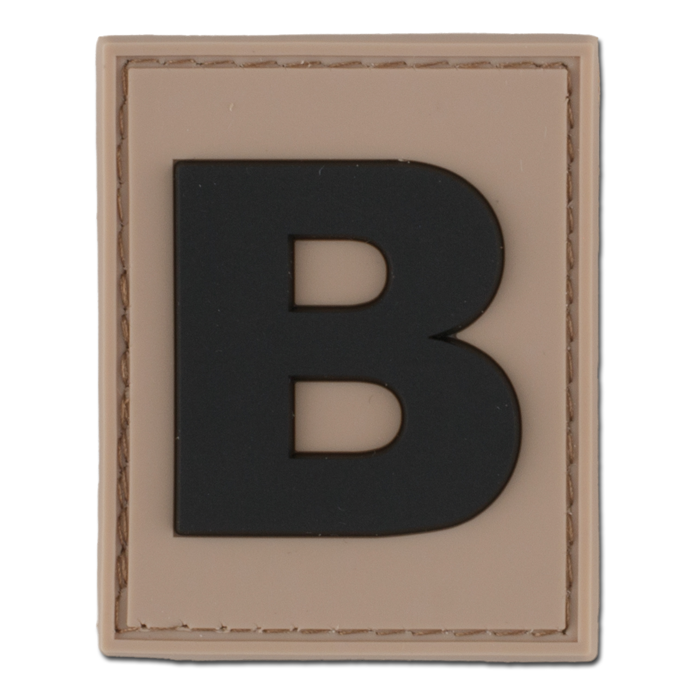 3D ID patch letter B desert