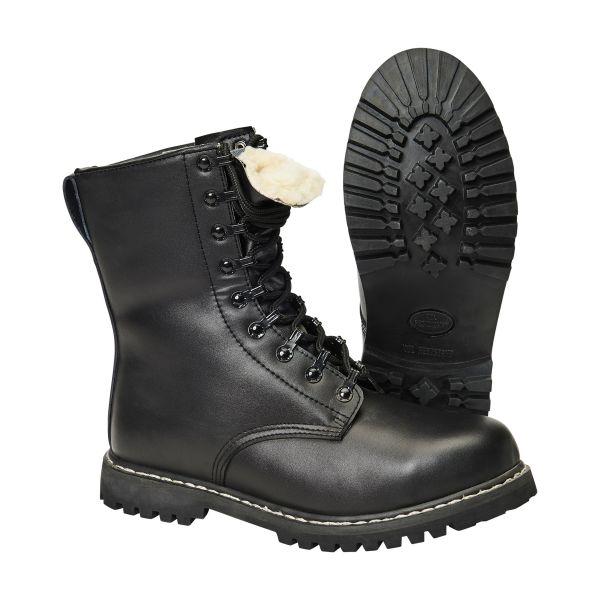 Brandit Parachutist Boots with Liner black