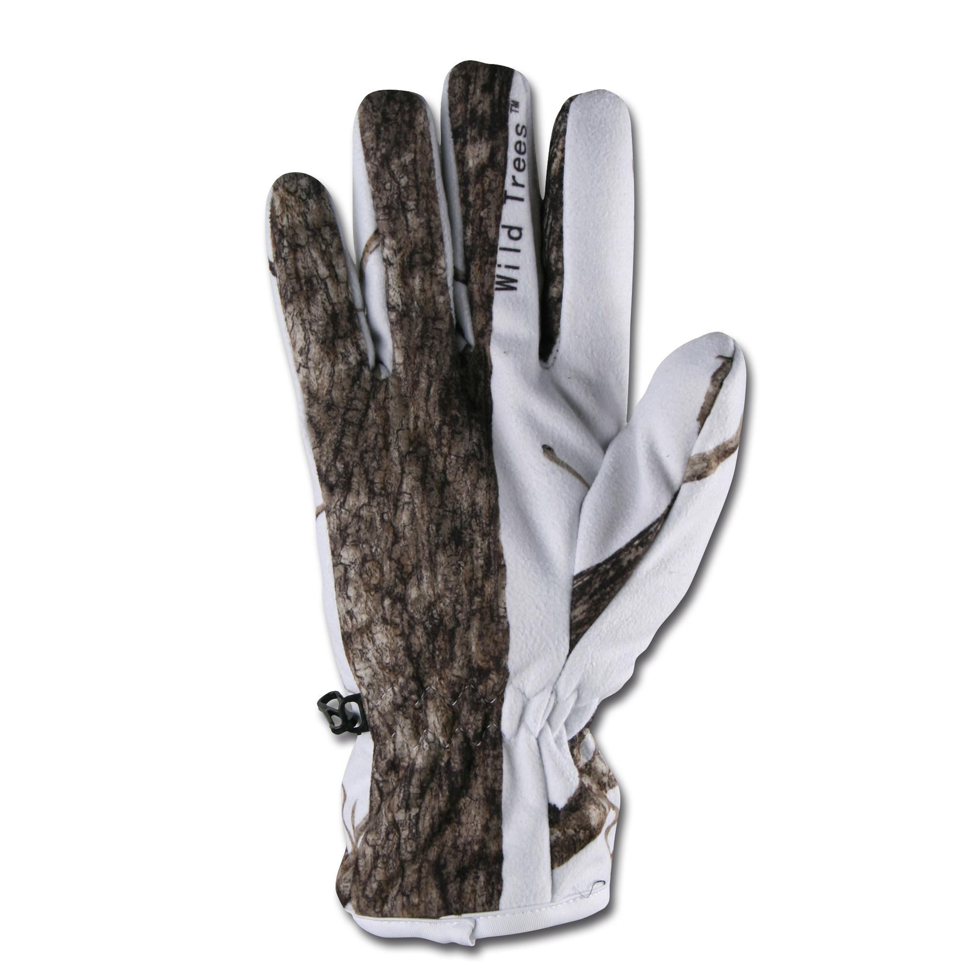 Gloves snow wild trees