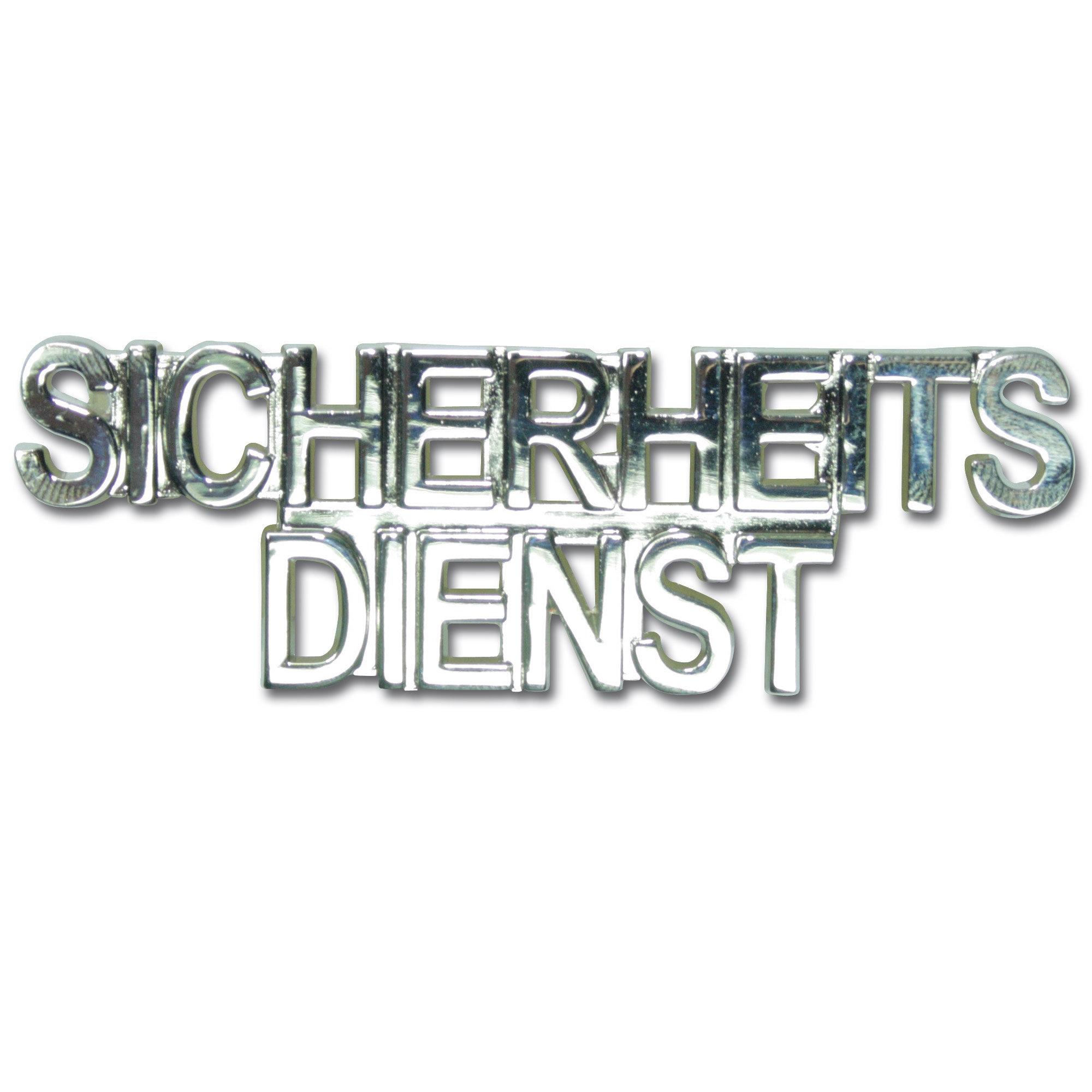 Collar patch SICHERHEITSDIENST silver