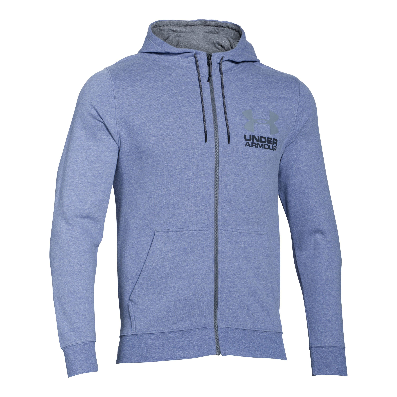 Under Armour Fleece Pullover Tri Blend Full Zip blue heather