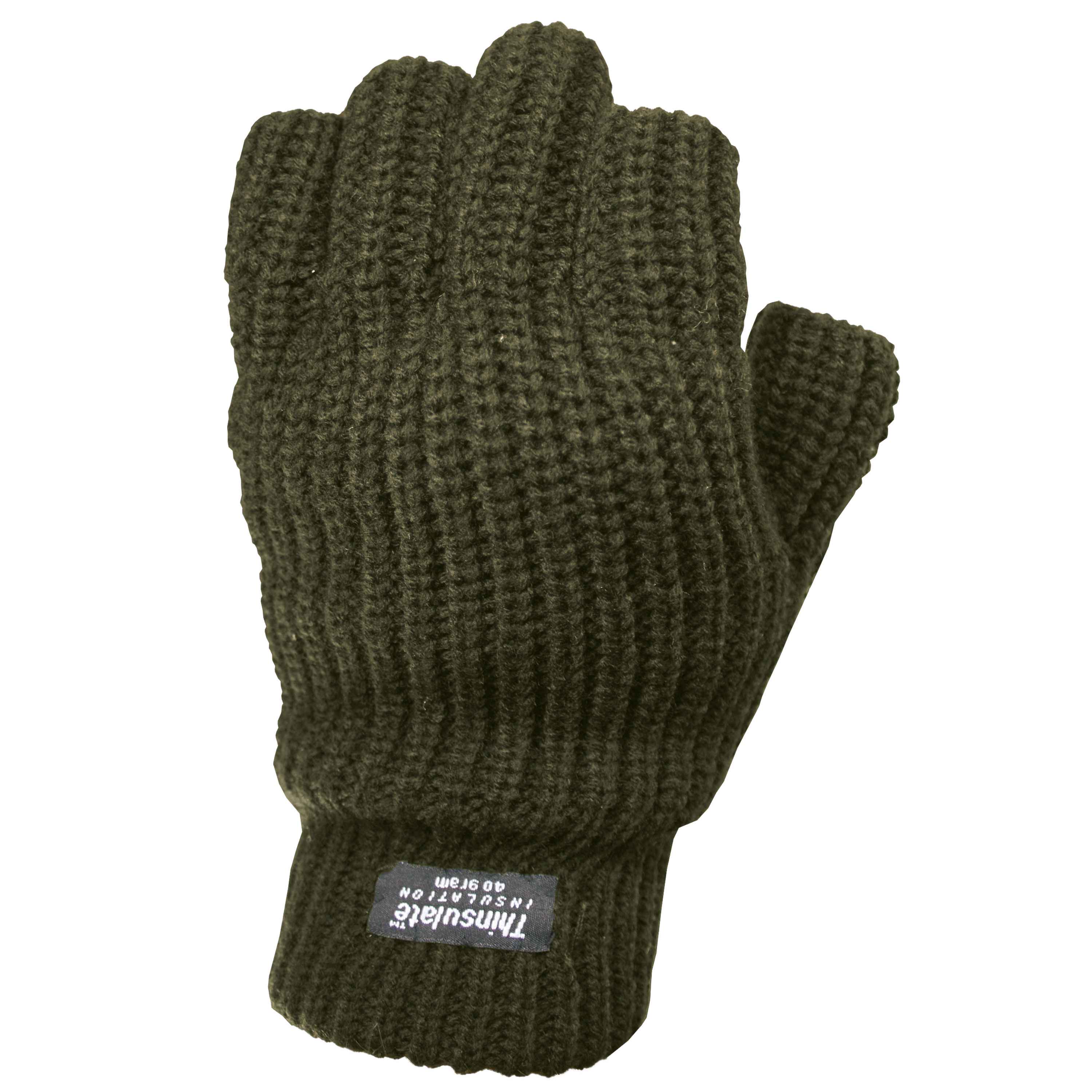 Fingerless Gloves Thinsulate olive