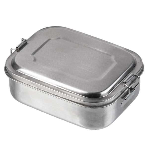 Mil-Tec Lunchbox Stainless Steel 16x13x6,2 cm