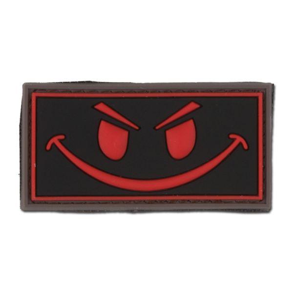 3D-Patch Evil Smiley black medic