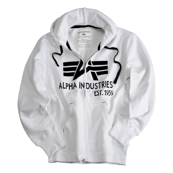 Alpha Industries Big A Classic Zip Hoody white