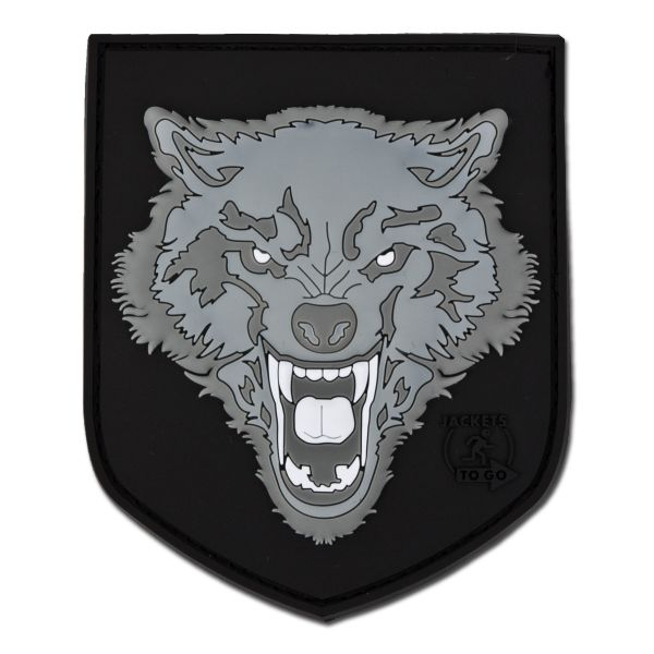 3D-Patch Wolf gray