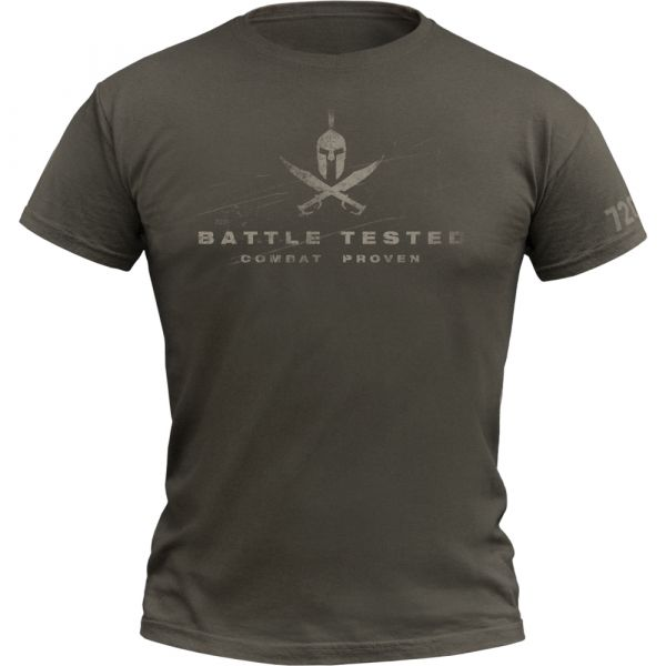 720gear T-Shirt Battle Tested army olive