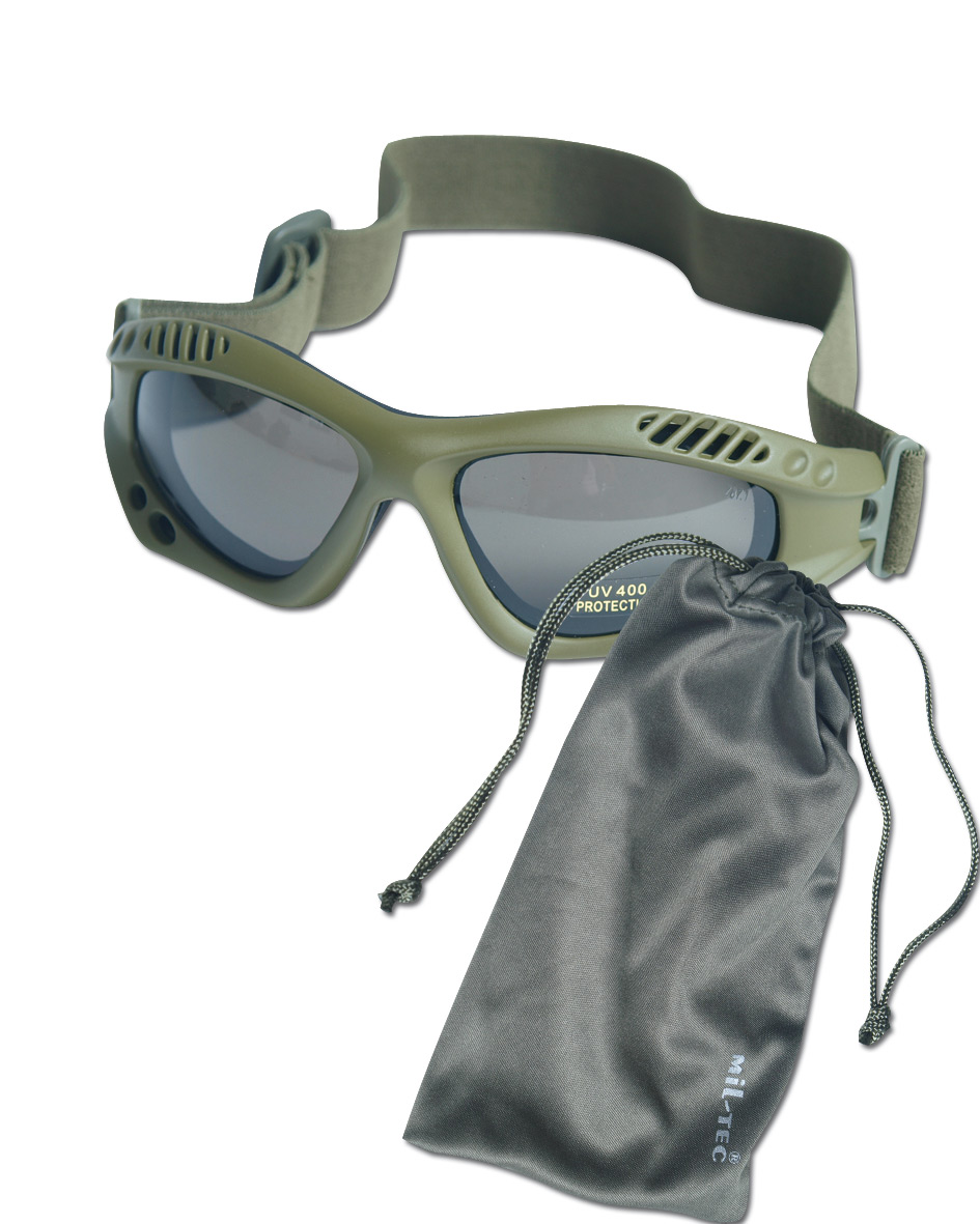 Goggles Commando Air-Pro olive/smoke