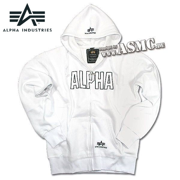 Zip Sweatshirt Alpha Track Hoody white