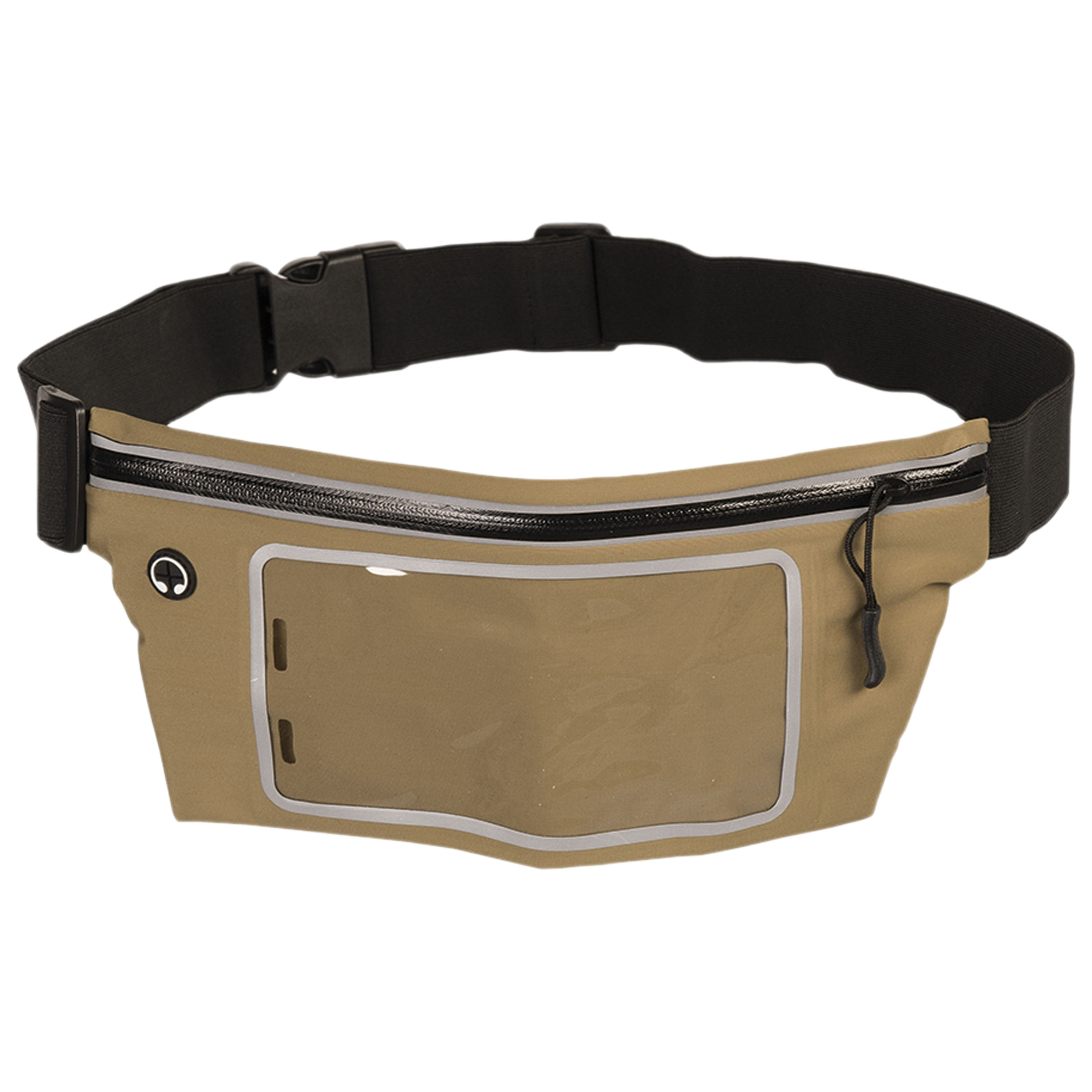 Waist Pouch Lycra with Transparent Window olive