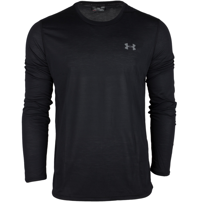 Under Armour Long Arm Shirt Threadborne Fitted black