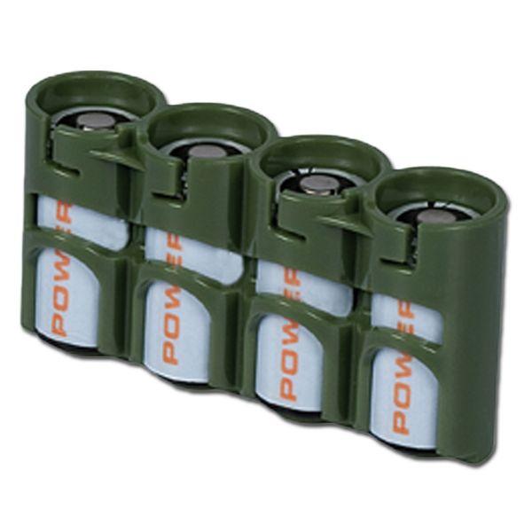 Battery holder Powerpax SlimLine 4 x CR123 olive