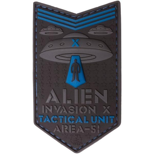 JTG 3D Patch Alien Invasion X File Tactical Unit blue