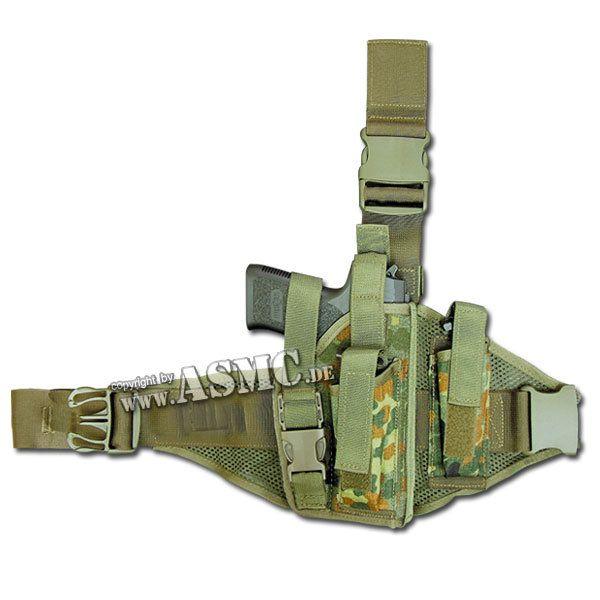 Tactical Holster P8 Type IV Right Hand flecktarn