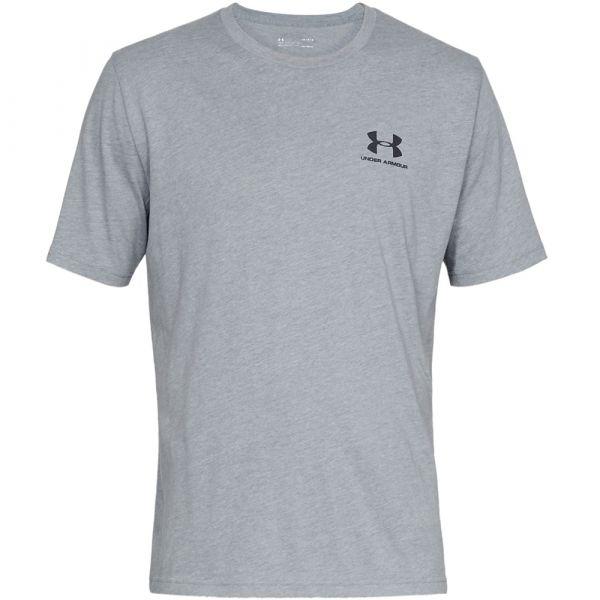 Under Armour Shirt Sportstyle Left Chest SS steel light heather