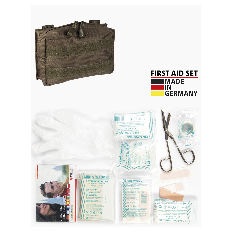 Leina First-Aid Set Pro 25-Piece olive