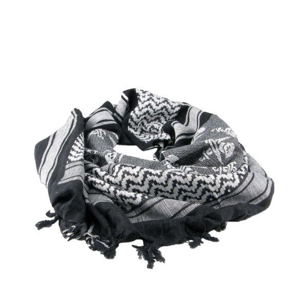 Shemag black-white with skulls
