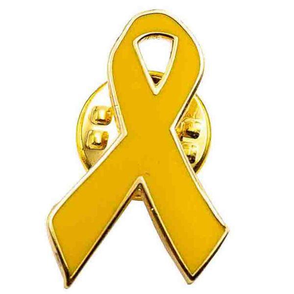 Café Viereck Pin Yellow Ribbon