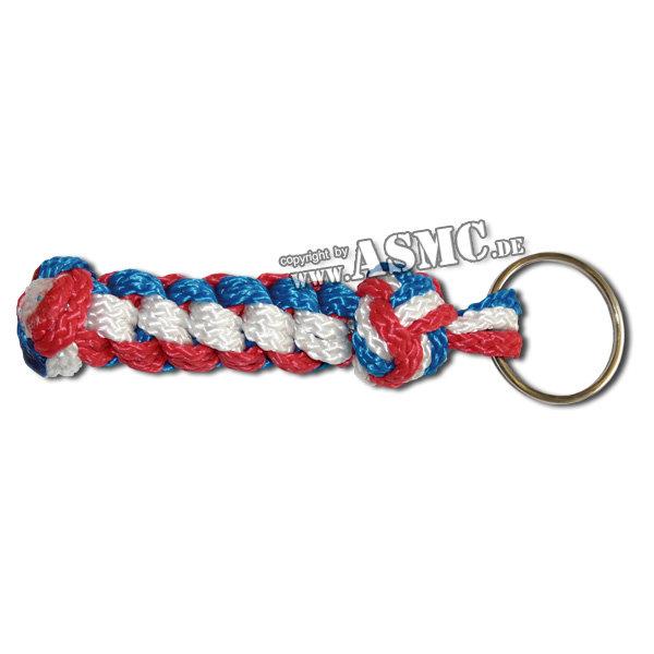 Keyring Sailor Knot blue-white-red