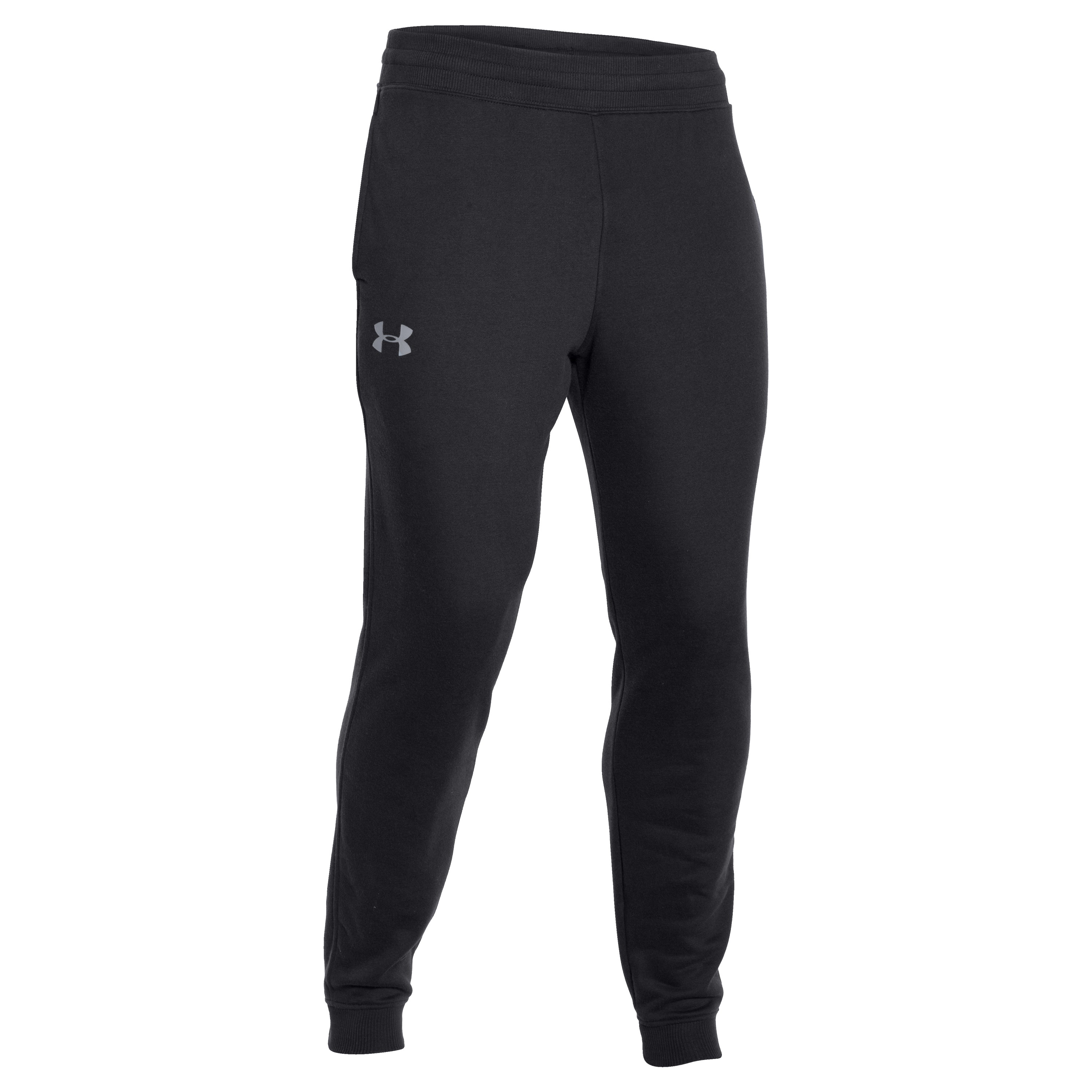 Under Armour Pants Rival Graphic Print black