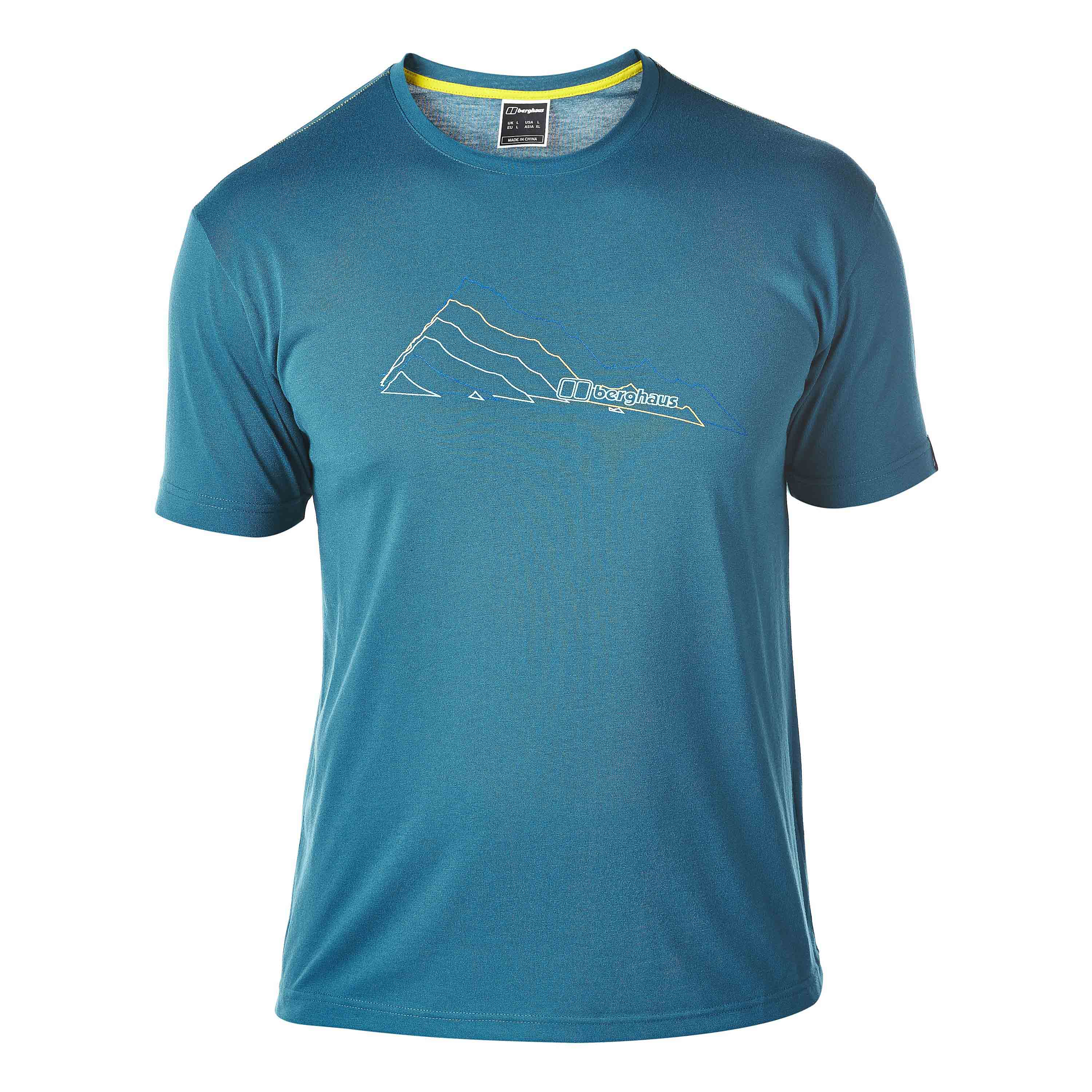 Berghaus T-Shirt Layered Mountain blue coral