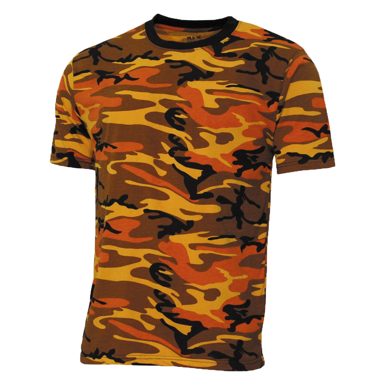 MFH T-Shirt US Street Style orange-camo