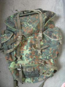 Rucksack liegend