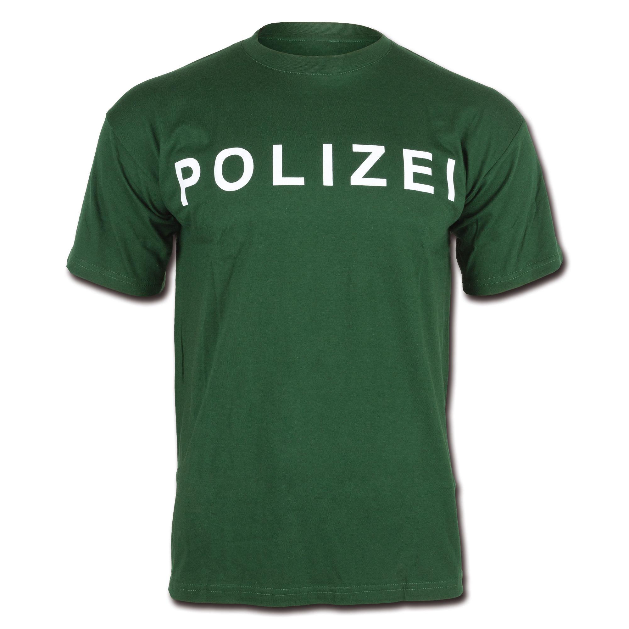 T-Shirt Polizei green