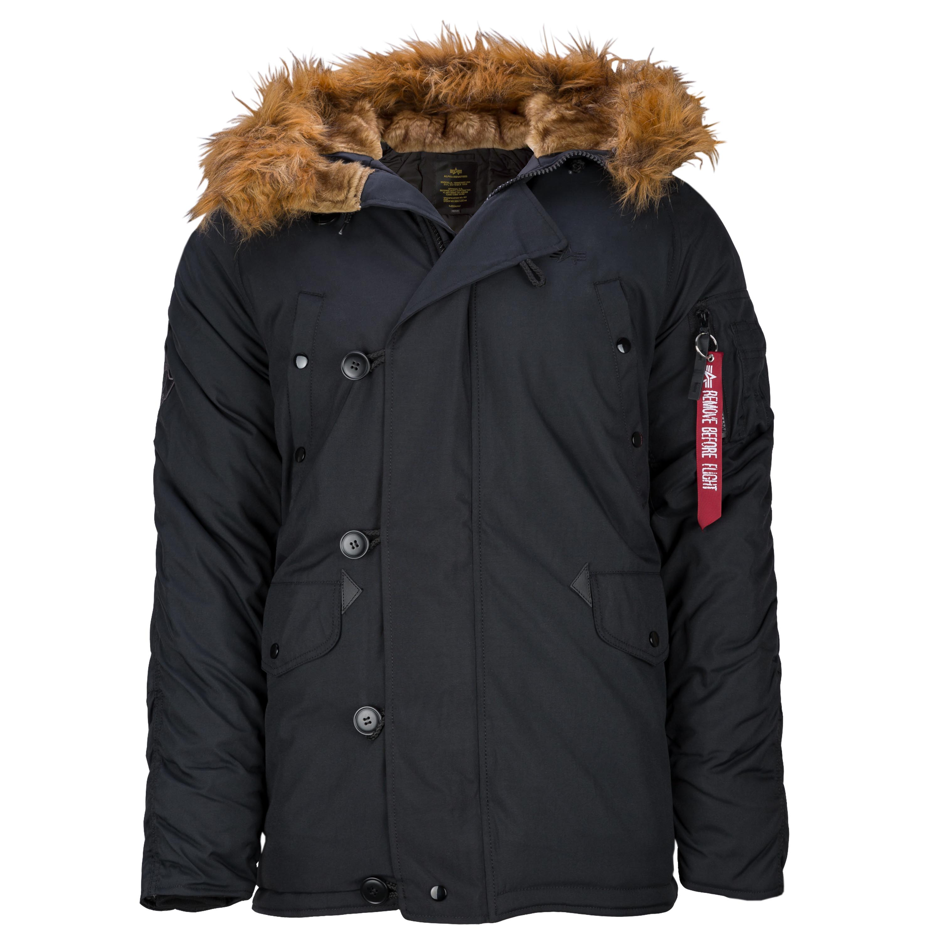 el plastico Almeja Rubí  Purchase the Alpha Industries Parka Explorer black by ASMC