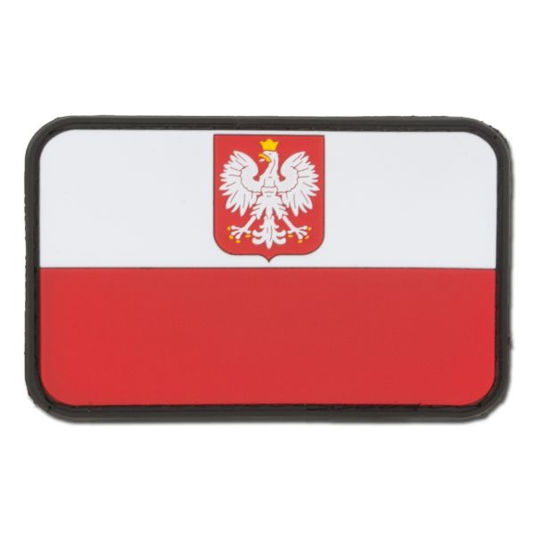 3D Patch Flag Poland with Coat of Arms full color