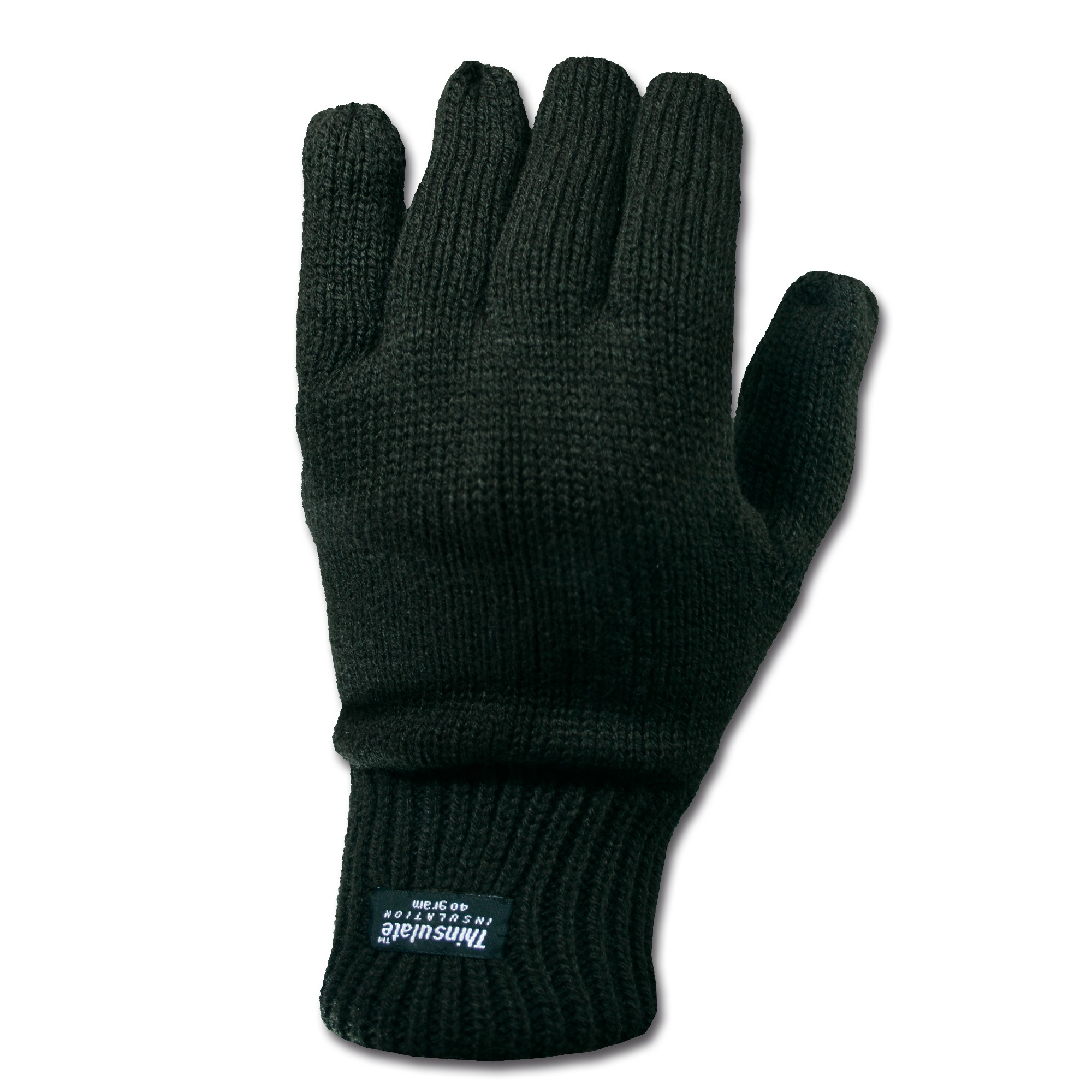Knitted Thinsulate Gloves black