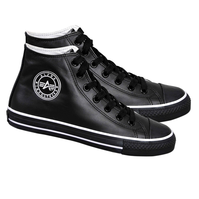 Leather Shoes Bullit High Alpha Industries black