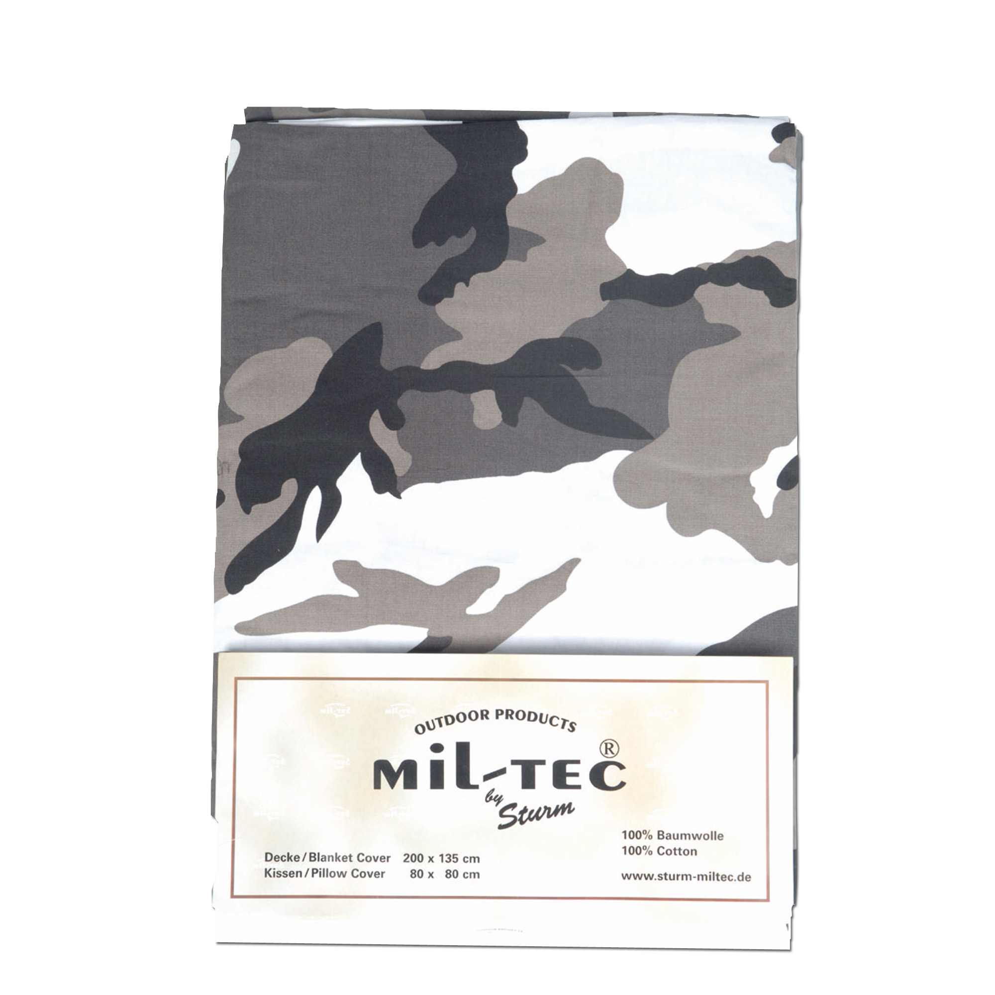 Bed cover and pillow Mil-tec urban camo