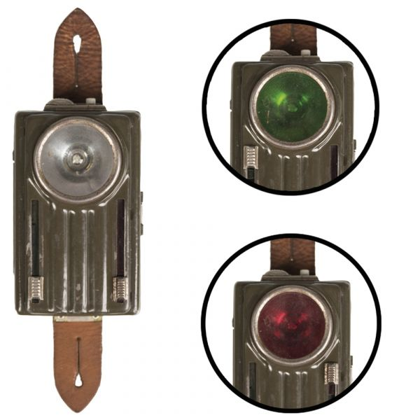 Used Polish Flashlight 3 Colors with Leather Pouch olive