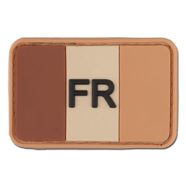 3D-Patch France with Country Code desert
