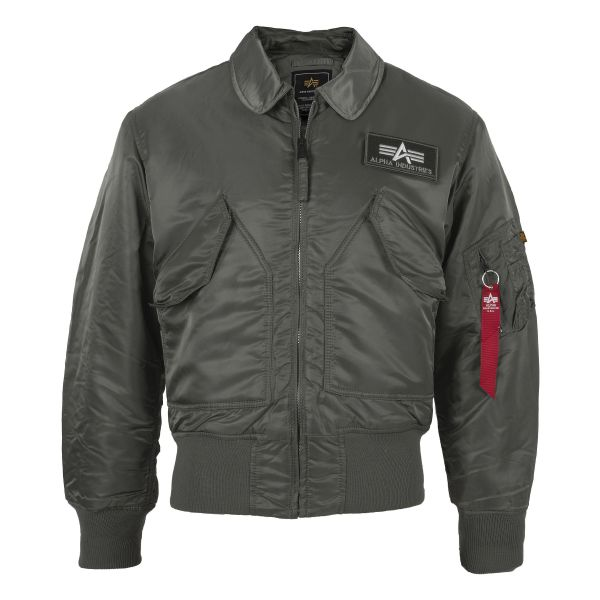 Alpha Industries Flight Jacket CWU Replica gray