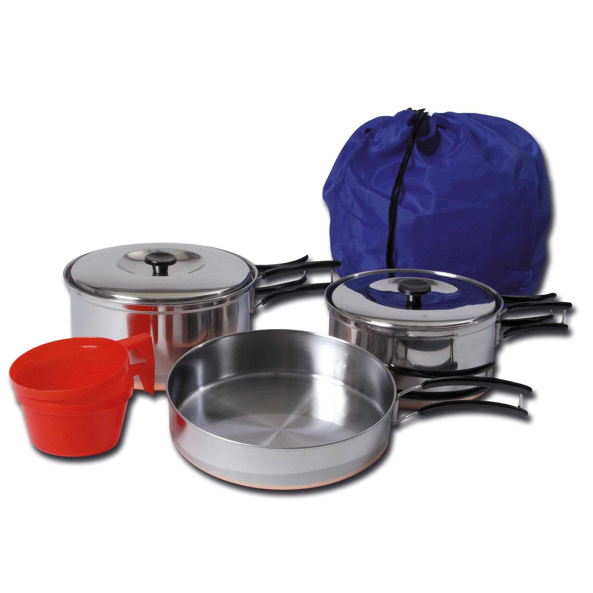 Cookset for 2, stainless steel