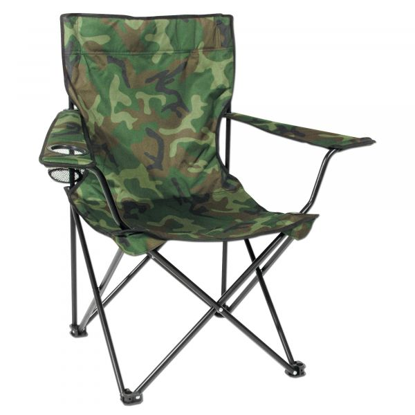 Folding Chair with Steel Frame woodland