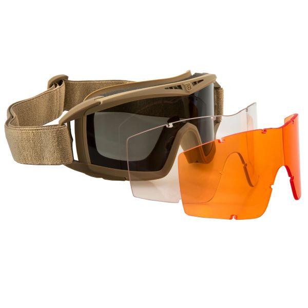 Revision Goggles Desert Locust Mission Kit tan orange