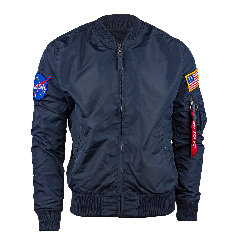 Alpha Industries Aviator Jacket MA-1 TT NASA Edition blue