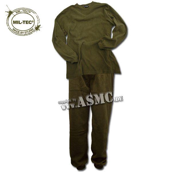 Underwear Thermal Fleece Type II olive green