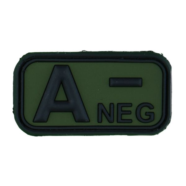 TAP 3D Blood Type Patch Rubber A Neg forest